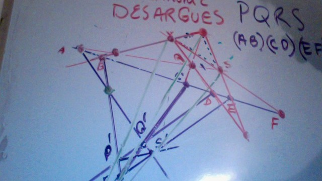 Quandrangle Sets/Desargues Theorem